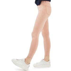 NWT // Topshop Jamie Raw Hem Skinny Jeans